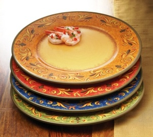Casa Cristina Tuscan Ceramic Dinner Plates from Favorite Things Home Decor & 11 best plates \u0026 stuff... images on Pinterest | Dishes Dinner ...