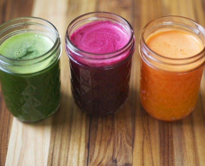 Ultimate #healthy drinks. Green Juice & Beet, Apple, Blackberry Juice & Carrot, Golden Beet and Orange Juice. #recipe