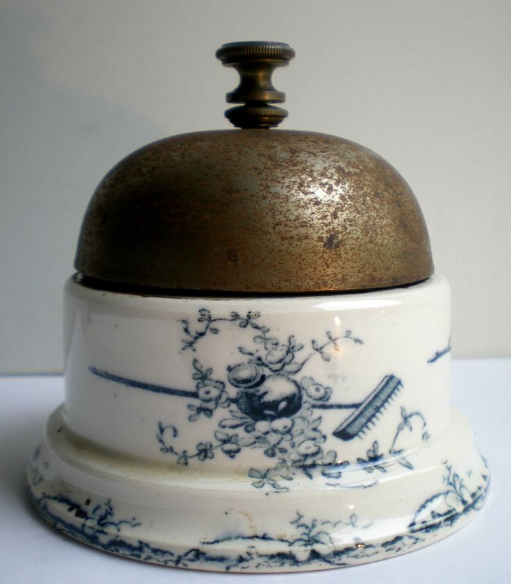 Counter Bell of 1900 Bell Luneville Earthenware Signed JPW Filed Paris...