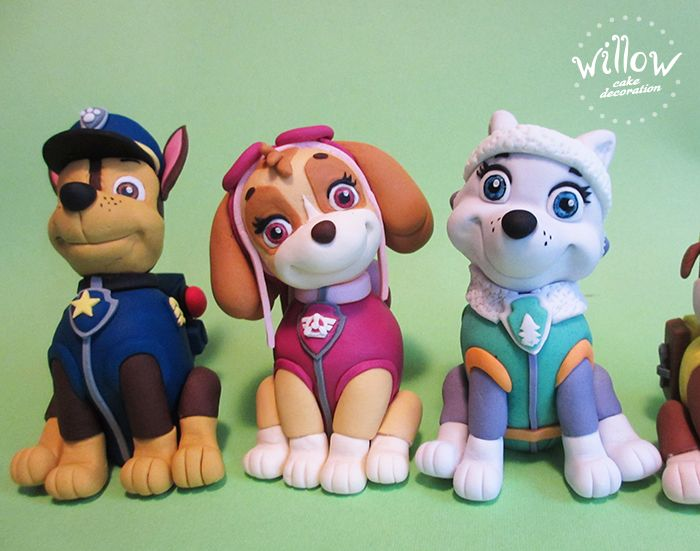 Paw patrol, fondant cake decorations