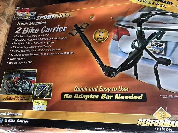 Car and Truck Racks 177849: New Reese Carry Power Sportwing Trunk Mount Bike Carrier 2 Bikes -> BUY IT NOW ONLY: $69 on eBay!