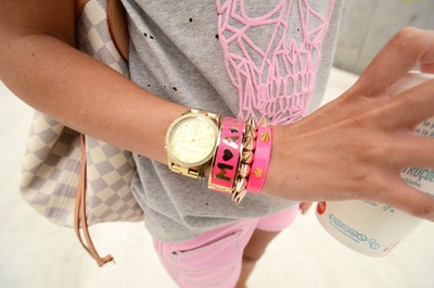 so much pink: Arm Candy, Fashion, Skull Shirts, Color Combos, Style, Pretty Girls, Sugar Skull, Pink Grey, Pink Sugar