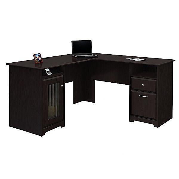 Bush Furniture Cabot L-Shape Executive Desk