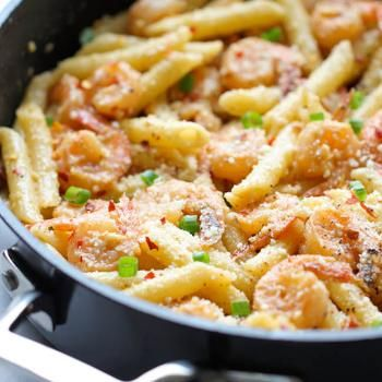 Spicy Parmesan Shrimp Pasta - This was so quick and delicious! Only change I would make is doing 6 oz of pasta instead of 8 oz. This was a big hit at my house and I will be doing it again soon!