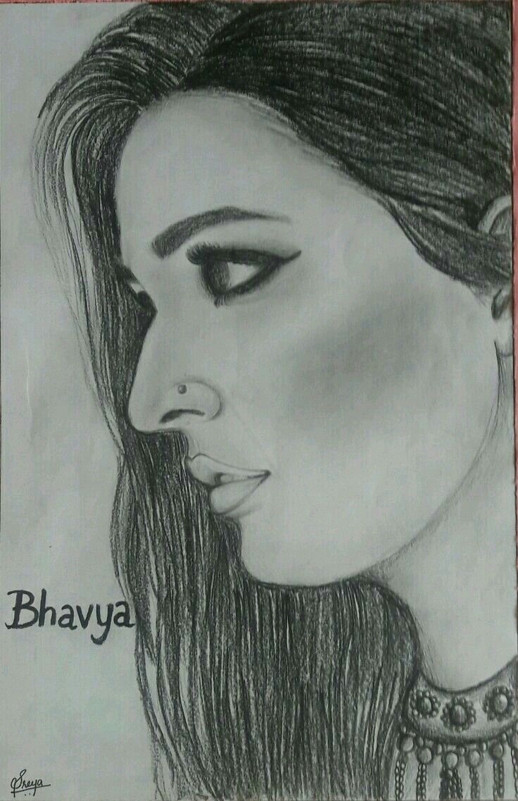 Bhavya best actress pencil drawings amazing art desi art gallery bollywood