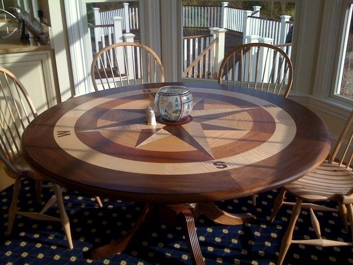 Gorgeous Customized Compass Rose Table By Clear Lake Furniture