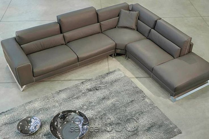 Twist Leather Sectional Sofa By Gamma Arredamenti