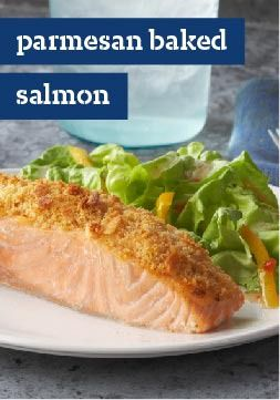 Parmesan Baked Salmon – Mayo, Parmesan and a RITZ Cracker coating make this baked salmon dish irresistible. Knock their socks off with this easy crowd-pleaser.