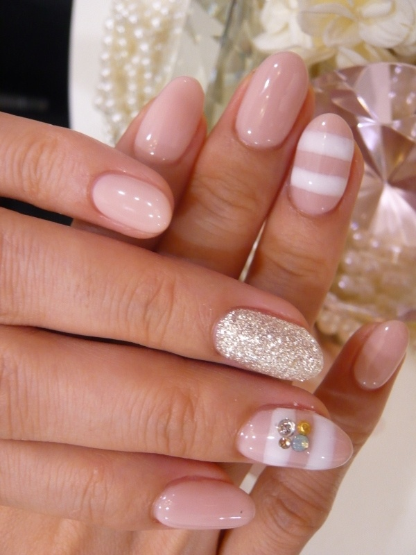 explore pink wedding nails
