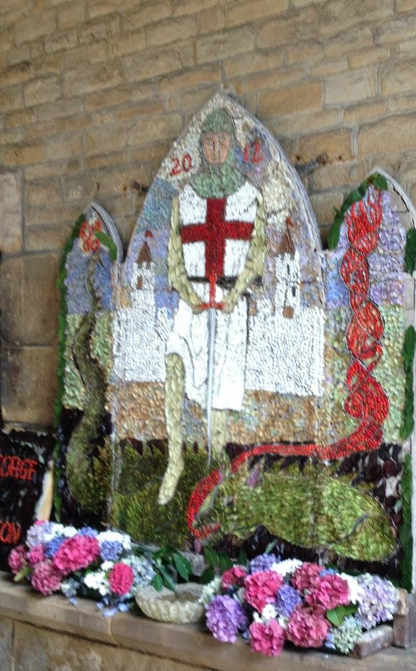 well dressing in Chesterfield