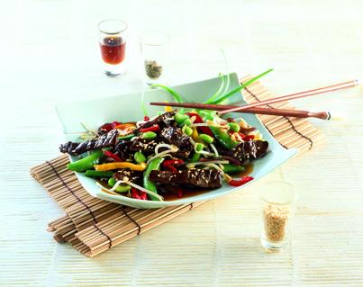 Wok de ternera y verduras. #wok #verduras #ternera #recetas
