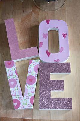 LOVE paper mache letters
