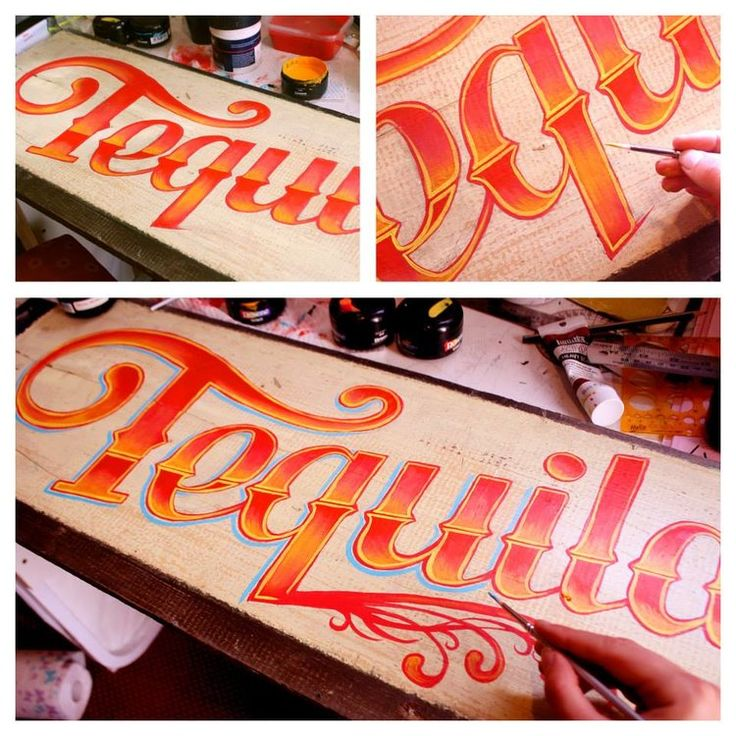 tequila - sign painting - hand lettering  - Erika Pearce - New Zealand artist