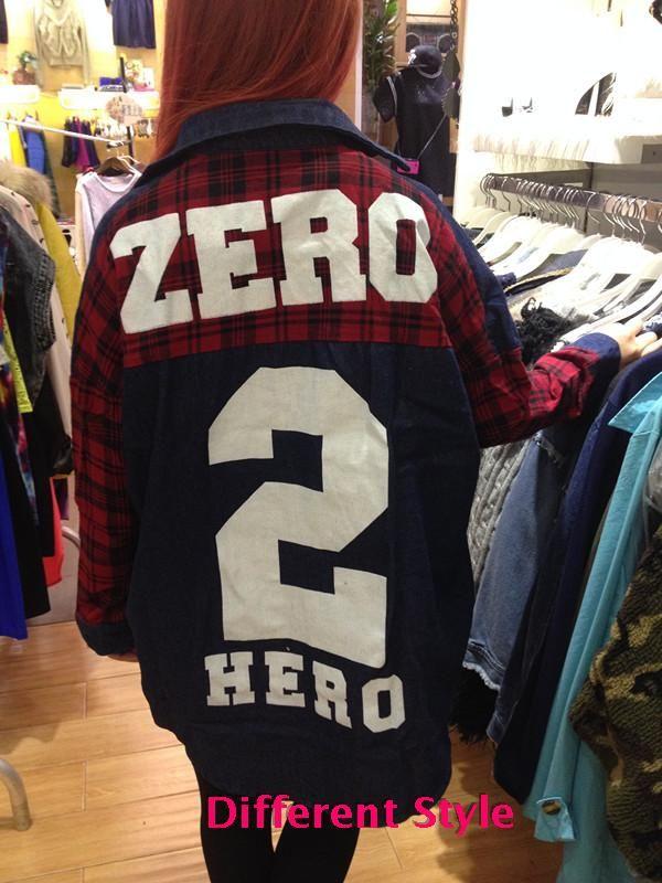 Хип-хоп стиль куртка BF плед шить джинсовые рубашки джинсовые куртки длинное пальто цифровой печати в крупных женщин размер - Taobao