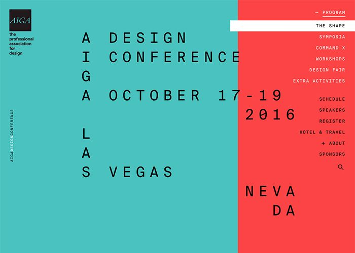AIGA Design Conference | CSS Website