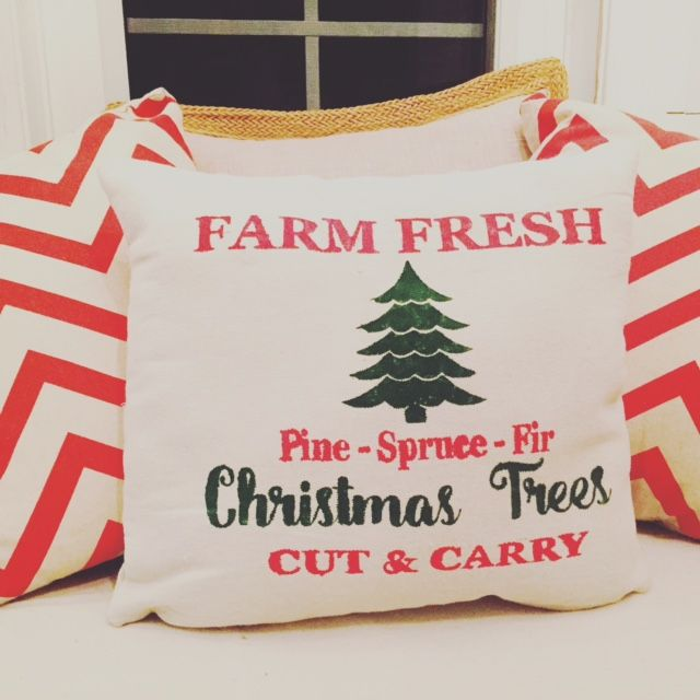 DIY Christmas Pillow #Christmas # Pillow
