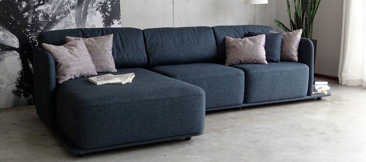 Modułowa forma sofy Molis sprawia, że możemy stworzyć jedyną, niepowtarzalną konfiguracje.