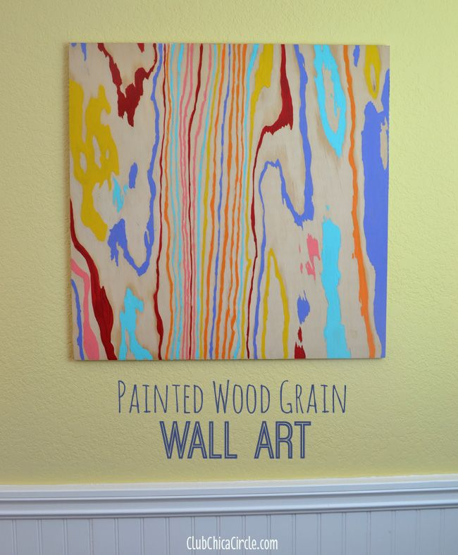 Colorful Wood Grain Wall Art DIY | Club Chica Circle - where crafty is contagious