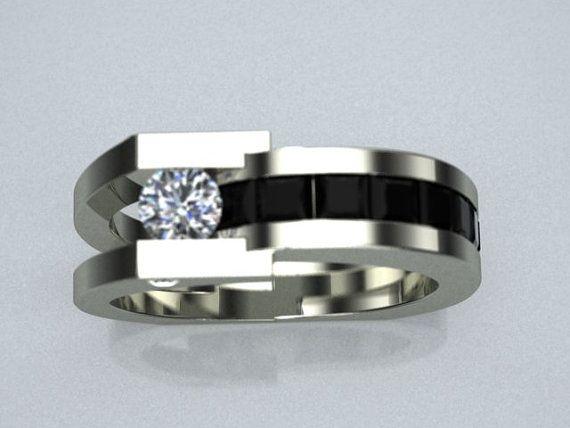 Bague en or blanc 14K « Valens » Gentlemen .25ct blanc diamants.50 ct de diamants blancs Nous pouvons le faire dans nimporte quelle taille (les prix peuvent varier selon la taille). vous pouvez demander une pierre différente (les prix peuvent varier selon les pierres précieuses). Nous allons vendre juste le montage, fournissant à que vous fournir les pierres précieuses et diamants.  Sil vous plaît visitez notre centre-ville studio Sarasota, en Floride !  Harry Roa Studio 1638 Main St…