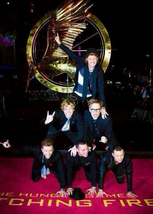 McBusted at hunger games prem...how much more perfect can you get.
