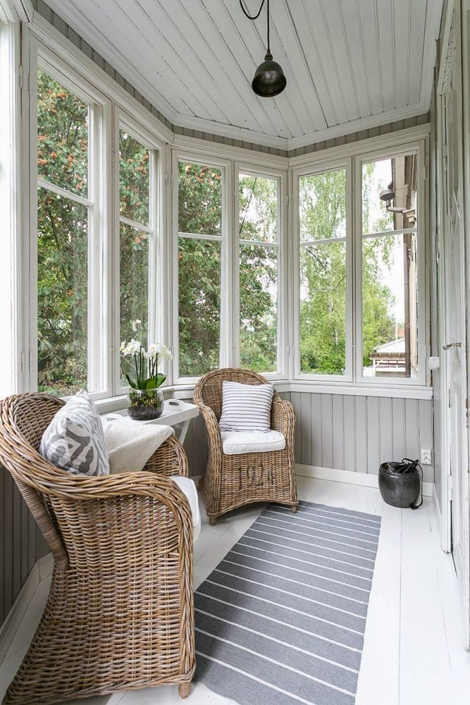 A small place in the home for a quiet time #sunroom #conservatory