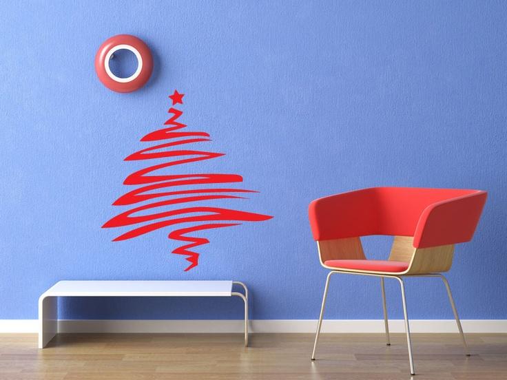 Un sticker très design à la façon dun trait au pinceau pour donner à votre décoration de noël un style moderne et décalé découvrez nos stickers mura