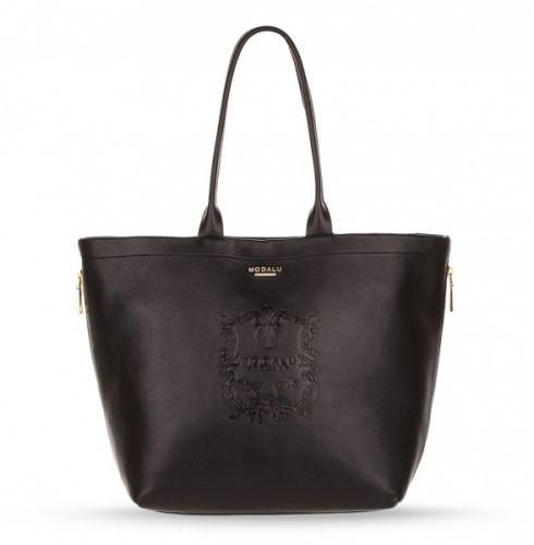 Modalu Buckingham Shopper Black på www.hgvesker.no. Finnes også i fargen Dark Tan.