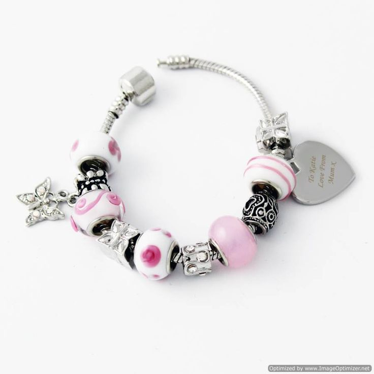 Personal Touch Gifts - Charm Bracelet Sweet - Pink - 18cm, £29.99 (http://personaltouchgifts.co.uk/charm-bracelet-sweet-pink-18cm/)