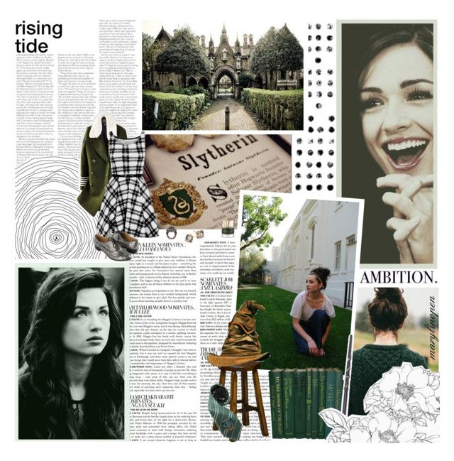 """""""""""Said Slytherin, 'We'll teach just those whose Ancestry's purest.'Said Ravenclaw, 'We'll teach those whose Intelligence is surest.'""""- The Sorting Hat"""" by marylinopen ❤ liked on Polyvore featuring PAM, McGinn, DutchCrafters, Smith & Cult, Tommy Hilfiger, Forever 21, Oscar de la Renta, GET LOST, slytherin and teenbadwolf"""