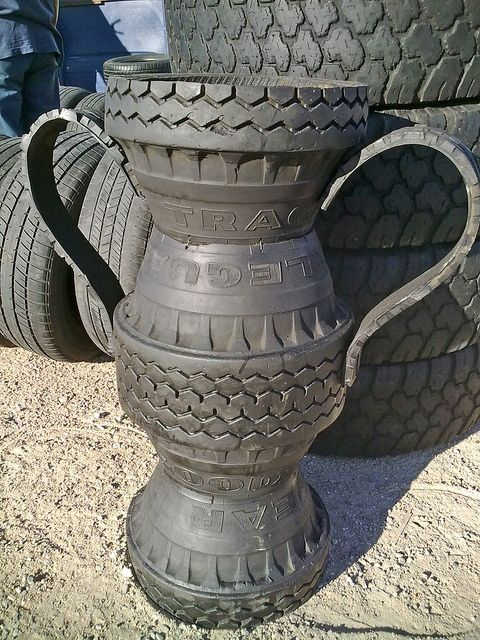 17 best images about upcycle car parts reuse recycle for Used tire yard art