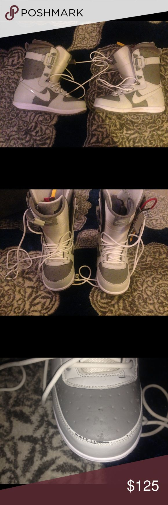 Nike men's snowboard boots Size 10.5. Worn once. Excellent condition. Paid over $250 for them. One toe is scuffed. Nike Shoes Winter & Rain Boots