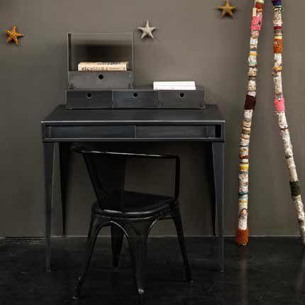 bureau acier bureau industriel bureau enfant bureau noir bureau noir en acier de style. Black Bedroom Furniture Sets. Home Design Ideas