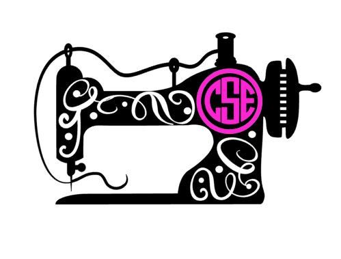 Sewing machine with monogram decal. These are perfect for your favorite cup, laptop, sewing box, etc. These will work on any hard, smooth surface. Information needed at checkout... 1. monogram (first, last, middle name order) 2. colors (Up to 2) You can choose a color for the sewing machine and a color for the monogram or have it all the same color.