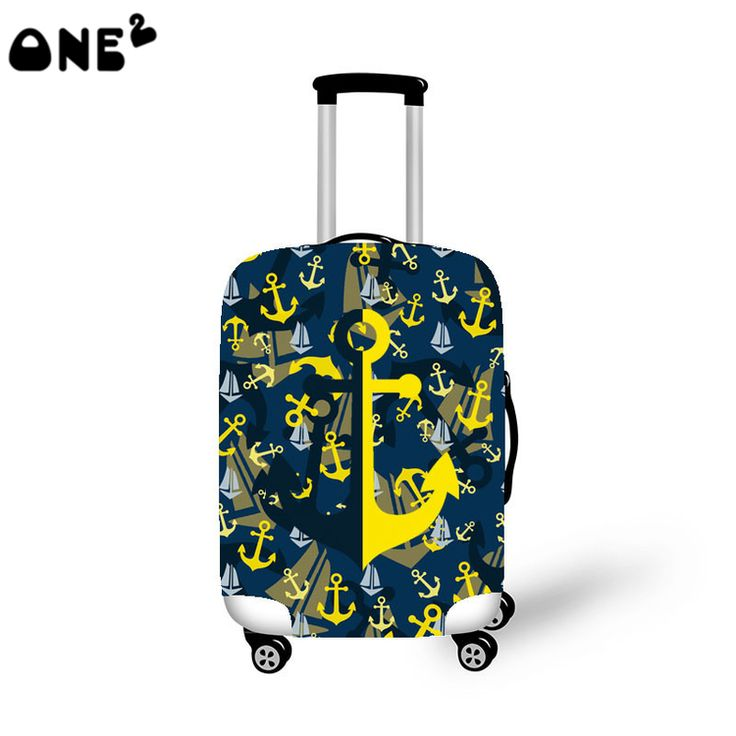 2016 ONE2 Design hooks printing cover apply to 22,24,26 inch suitcase eminent foldable nylon luggage cover