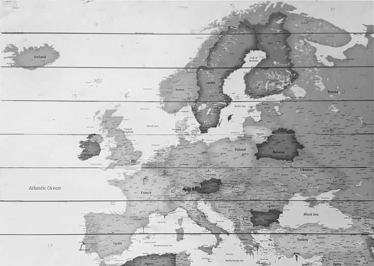 17 best Europe on wood images on Pinterest Maps, Colours and Belgium - best of world map grey image