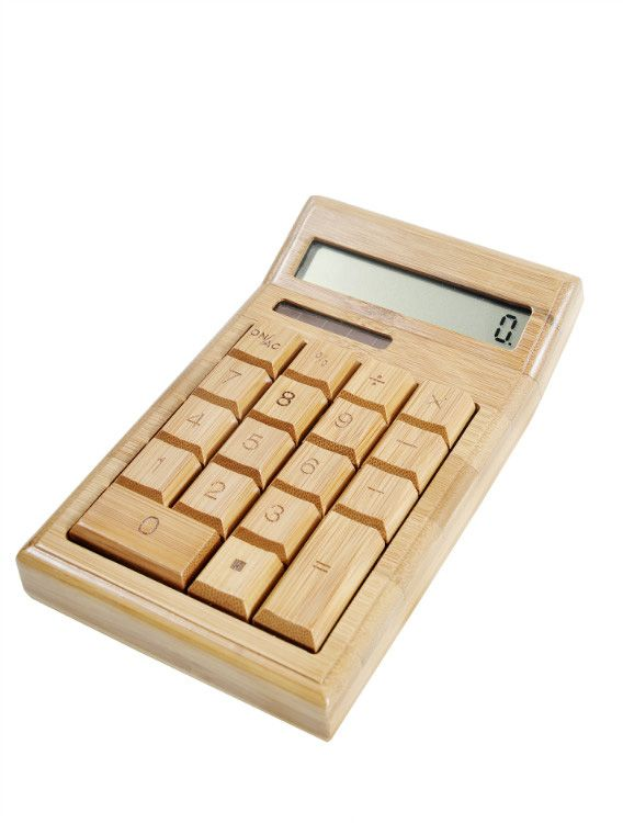"""Get #Mom something #cool this #MothersDay like a #Bamboo #Calculator, now 15% off with the #Coupon """"iZenMom"""" http://www.izenbamboo.com/products/bamboo-calculator"""