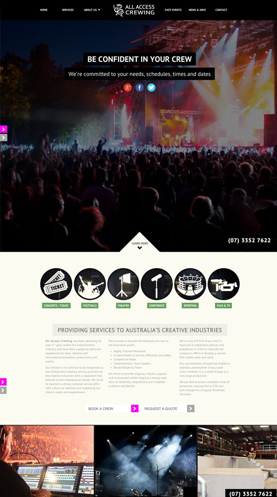 All Access Crewing responsive website