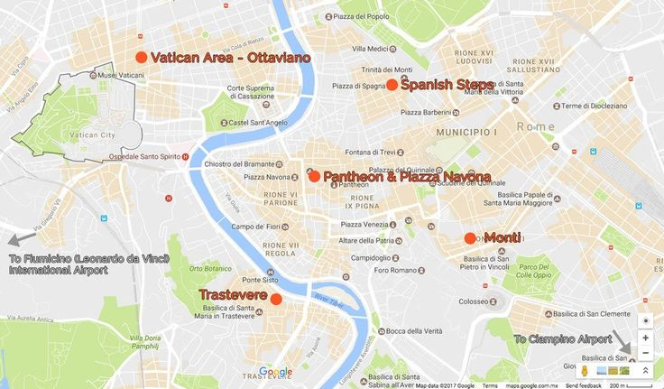 Best Hotels in Rome Italy. Rome Map