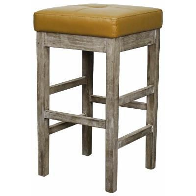 Valencia Classic Backless Bonded Leather #Rustic #CounterStool, Butter