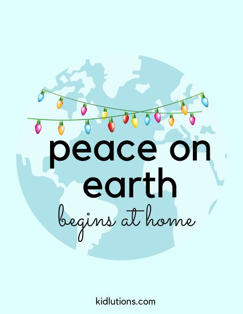 Peace. Let's start a revolution. It begins at home. A simple concept with a HUGE impact.