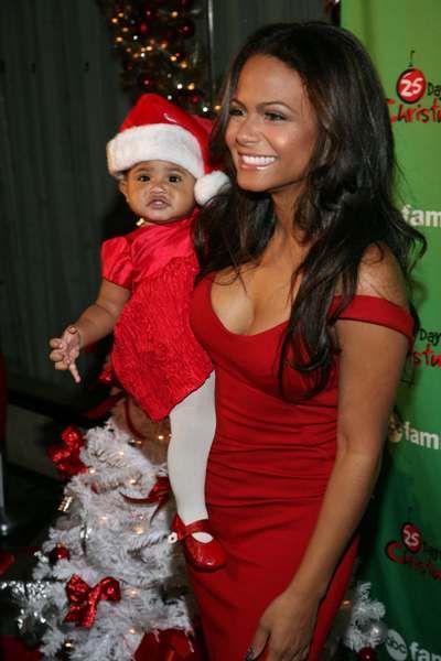 Christina Milian and Violet get festive