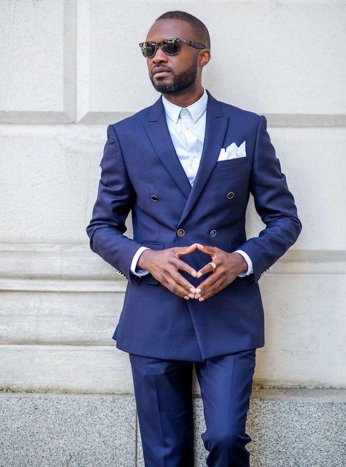 soldes costume homme devred bleu roi marine