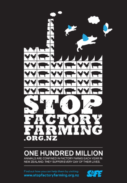Stop Factory Farming campaign poster