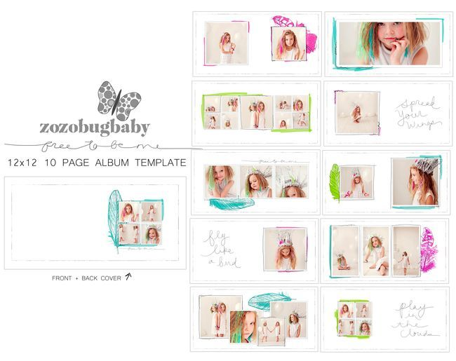 New Free To Be Me Album Template set listed at 50% off