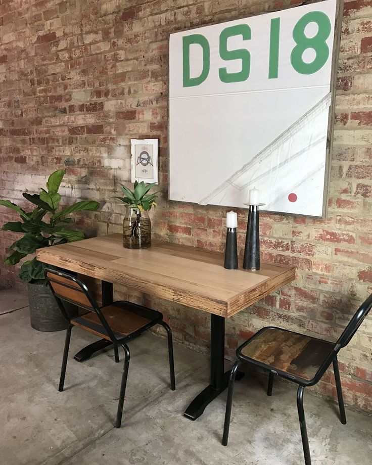 Tasmanian Oak Floor Board Table we made for Erik. #MulburyMade #melbourne #mulbury #InteriorDesign #SailArt #art #InteriorDesign #recycledtimber #TasmanianOak #RecycledDinningTable