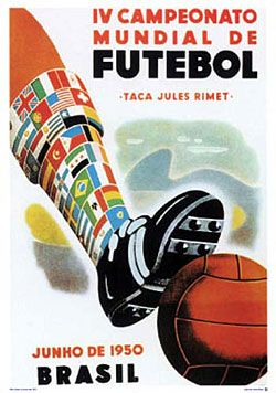 World Cup 1950 Brazil Official Poster