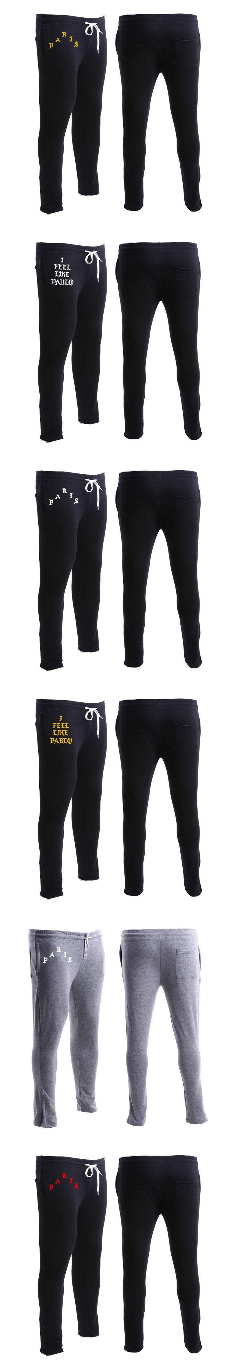 Fashion Kanye West Pants Men Golds Gyms Clothing Men Joggers Pants Women Bodybuilding Sweatpants Women I Feel Like Paul Pablo