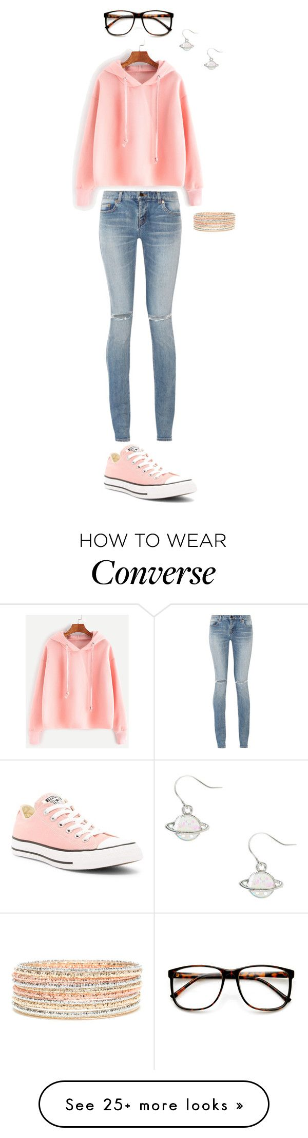"""Unbenannt #318"" by kitty-lm on Polyvore featuring ZeroUV, Converse and Yves Saint Laurent"