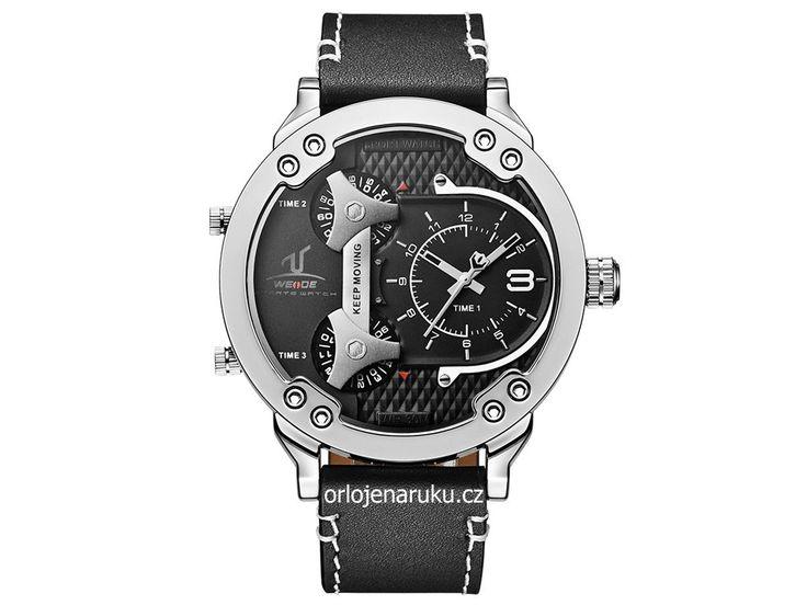 Velké a propracované hodinky značky Weide zobrazují až tři časová pásma. Hodinky…
