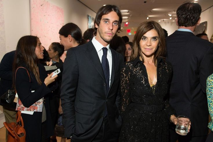 Photo of Carine Roitfeld & her Son  Vladimir Restoin Roitfeld